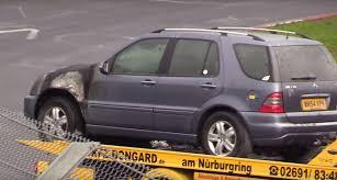 jurassic park car mercedes 2004 mercedes ml 270 diesel burns on the nurburgring jurassic park