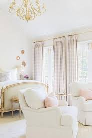Gold And White Curtains Rosenheck White And Pink Bedroom With Pink Plaid Curtains