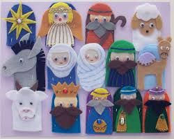 the first christmas finger puppets what an adorable idea a child