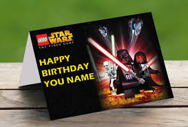 lego star wars personalised birthday card celebrity facemasks