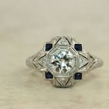 best vintage art deco sapphire ring products on wanelo