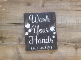 Rustic Bathroom Signs - wash your hands sign bathroom signs rustic bathroom decor
