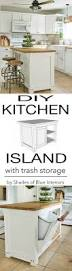 best 25 portable kitchen island ideas on pinterest portable diy kitchen makeover ideas diy kitchen island with trash storage cheap projects projects you can make on a budget cabinets counter tops