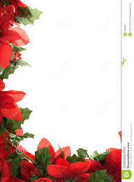 christmas poinsettia border royalty free stock photography image