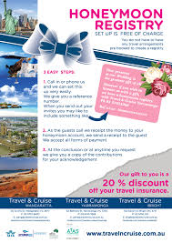 travel registry wedding honeymoon registry travel and cruise