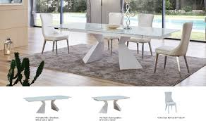 992 dining table with 6138 chair dining set in white free