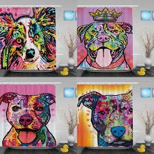 aliexpress com buy colorful pitbull dog waterproof shower