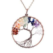 handmade necklace pendants images Magnificent handmade tree of life natural stone pendant necklace jpg