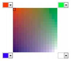 choosing colors photo paint