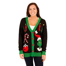 grinch christmas sweater women s the grinch christmas cardigan sweater