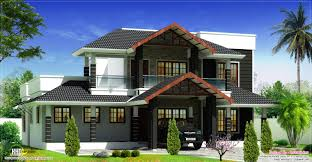Kerala Home Design Plan And Elevation Beautiful Sloping Roof Villa Elevation Design House Design Plans