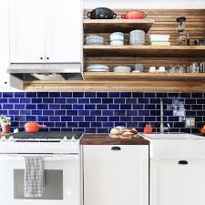 white kitchen cabinets with blue subway tile go bold with uniquely colored subway tile mercury mosaics