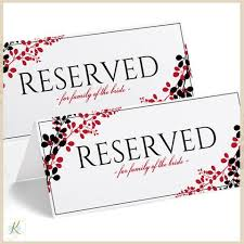 wedding signs template printable reserved sign tent exquisite vines black