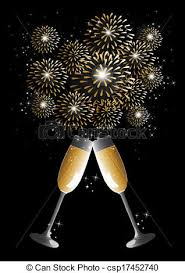 new years chagne flutes new year chagne glass clipart