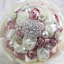 silk flowers for weddings luxury bridesmaid wedding decoration satin flowers bridal