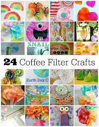 Kids Fun Craft - 24 fun coffee filter crafts to make make and takes