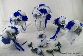 wedding flowers royal blue blue silver and white wedding decorations royal blue tables with
