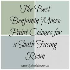 the best benjamin moore paint colours for a south facing
