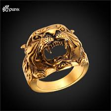 gold ring design for men aliexpress buy 316l stainless steel antique tiger ring for
