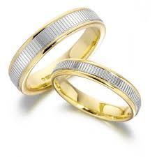 2 wedding rings gents 2 tone wedding ring ref gp2155