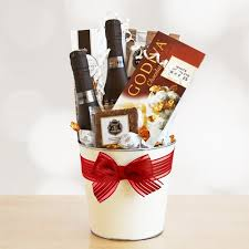 wine and chocolate gift baskets celebrate s day with this gift of effervescent