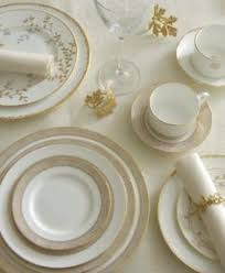 donna karan lenox dinnerware platinum voile collection american