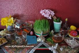 Iranian New Year Table Decoration by Sofreh Haft Seen The 7