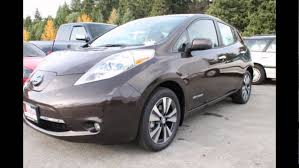 nissan leaf sv vs sl 2016 nissan leaf forged bronze youtube