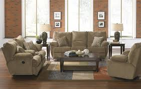 Fabric Reclining Sofa 2 Reclining Sofa Set In Desert Color Fabric By Catnapper