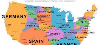 Producto Interior Bruto Países Distribuidos En El Mapa De Estados Unidos Según Su Producto