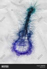 doodle pencil sketch guitar image u0026 photo bigstock