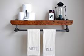 Wall Mounted Wooden Shelves by Floating Shelves Cherry Wood Shelving Without Brackets Black