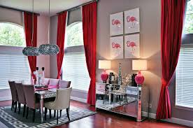 Gray And Red Curtains Red Dining Room Curtains Interior Design