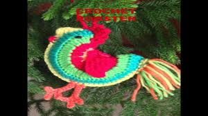 how to crochet a rooster diy christmas tree ornament youtube