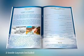 modern funeral programs funeral program template publisher