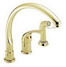 polished brass kitchen faucet delta 172 pbwf waterfall single handle kitchen faucet single