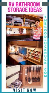 rv kitchen cabinet storage ideas rv bathroom storage ideas the luck duck