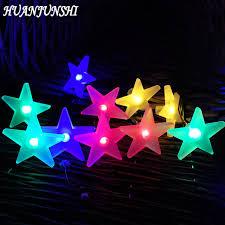 solar panel christmas lights huanjunshi 30 led solar panel outdoor lighting star shape christmas