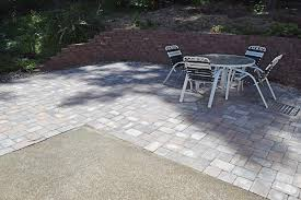 Concrete Patio With Pavers West Olympia Paver Patio Extension Ajb Landscaping Fence