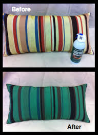 Painting Fabric Upholstery Striped Pillow Painted With Hunter Green Upholstery Fabric Paint