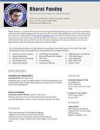 digital marketing resume resume bharat pandey seo digital marketing executive