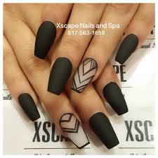 matte black nail designs nail art design