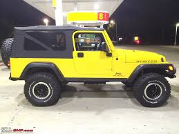 jeep rubicon yellow evolution of my jeep rubicon page 6 team bhp