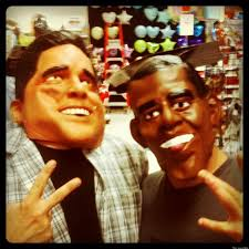happy halloween party city halloween mask sales show obama leads romney 60 percent to 40