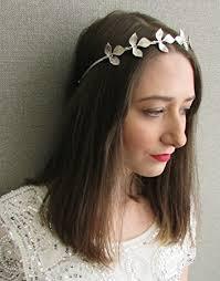 goddess headband silver leaf headband headdress grecian vintage goddess