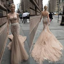 trumpet wedding dresses 2016 inbal dror mermaid lace wedding dresses applique