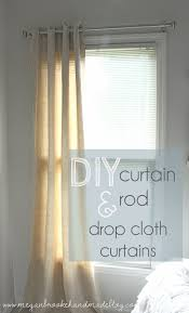 How To Make Curtains Out Of Drop Cloths Diy Curtain Rod How To Make Your Own Megan Brooke Handmade
