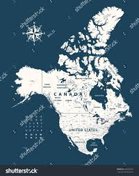 United States Map With States by Canada United States Mexico Map States Stock Vector 494478016