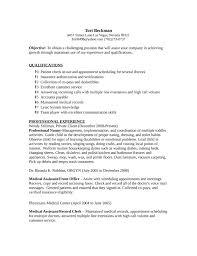 Ob Gyn Medical Assistant Resume Medical Records Clerk Resume Resume Templates