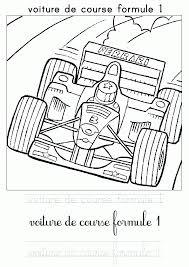 coloriage voiture de course les beaux dessins de transport à